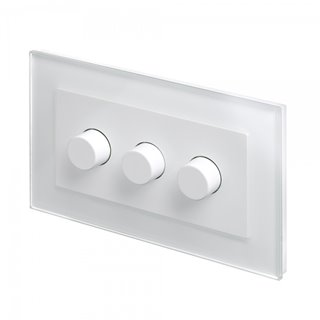 Retrotouch White Crystal 3 gang dimmer