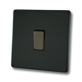 Screwless Polished Black Sockets and Switches