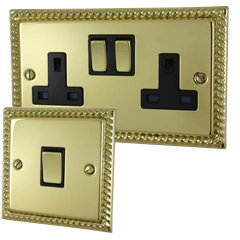Brass rope edged sockets