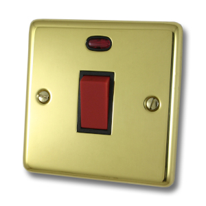 Single Brass Cooker Switch