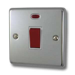 Single Chrome Cooker Switch