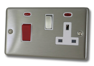 Brushed Steel Cooker Switch